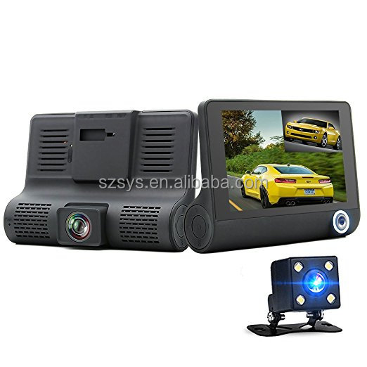 full hd 1080p car dual camera lens dash cam 170 degree loop recording double channel dvr motion detection camcorder