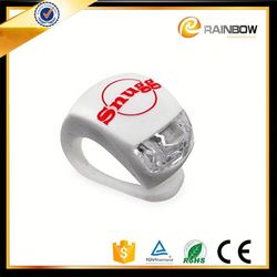 2015 promotional bike accessory custom silicone led jingyi bicycle light with OEM LOGO