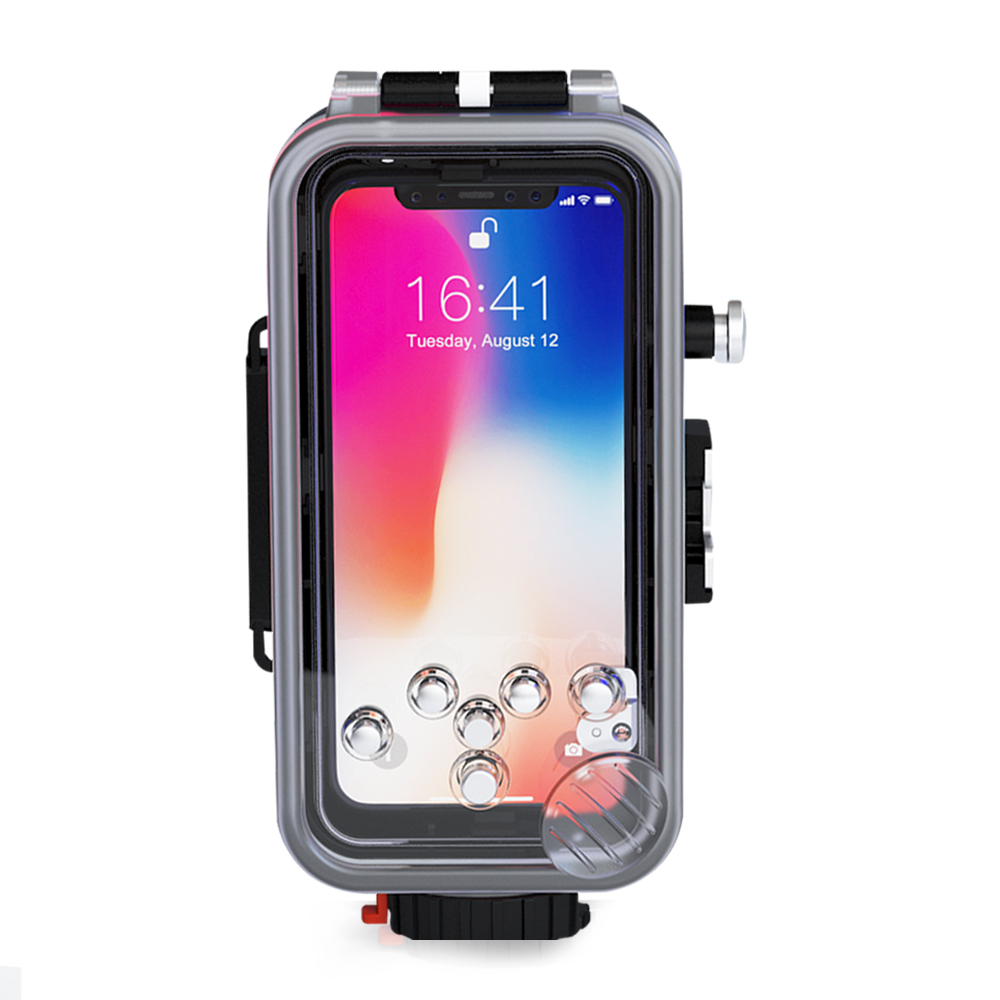 Meikon Smartphone Waterproof Photography Housing underwater camera case  IPX8 for iphone X Diving sport swimming and surfing