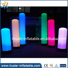 Outdoor led pillar light inflatable light column for events led pillar light