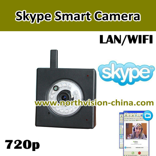 HDMI and AV output android tv box with skype camera, 720p hd video call