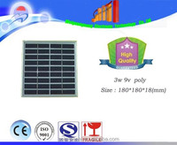 3W 9V Polycrystalline silicon Solar Panel used for 6V photovoltaic power home system, Poly solar Module