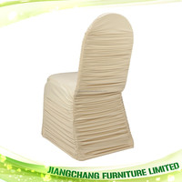 Wholesale White Banquet Ruched Chair Cover