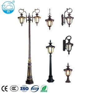 Hot sale antique classic die casting aluminum housing outdoor led garden street lamp pole light