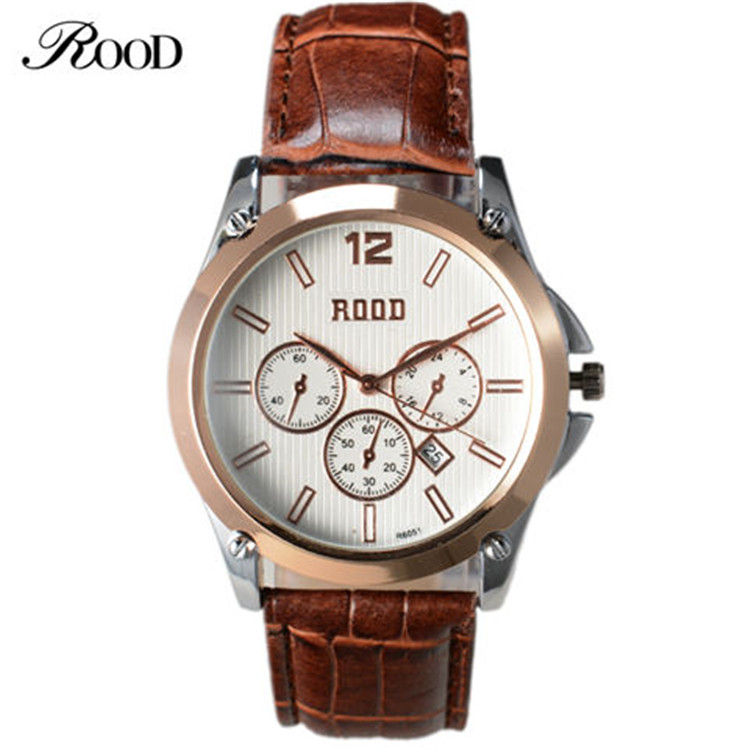 Simple design wholesale men casual wrist watches 4 colors cheap leather band watches for men