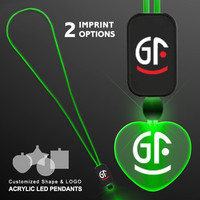 Wholesale Heart Shape Flashing Christmas Light Necklace