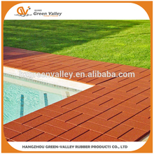 Hot sales custom color outdoor rubber flooring tiles pavers