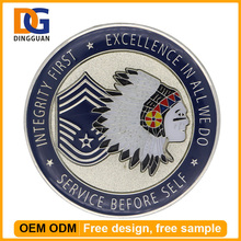 Custom Tungsten Metal Badges Commemorative Round Honor Coins