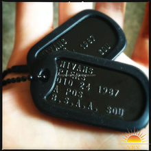 promotional custom shape cool metal dog tag for men