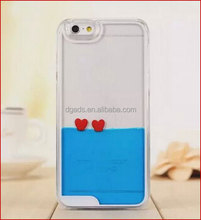 Guangdong manufacture plastic PC/TPU liquid case for iphone 6 plus