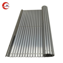 flexible aluminum apron covers bellow covers roll up only in one direction made in china