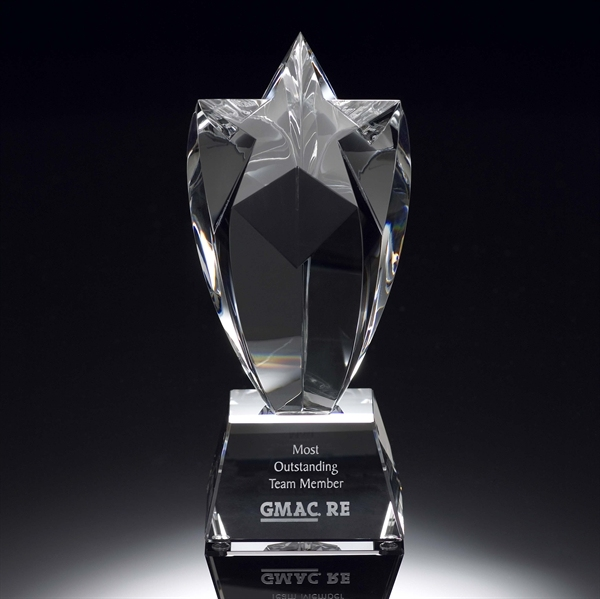 Jingyage wholesale star-shaped crystal plaque award stylish star jewel crystal award stars trophy awards
