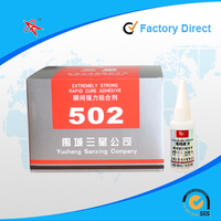 Factory direct, hot sale new design 502 super glue, cyanoacrylate adhesive, super glue with 20g plastic bottle pack