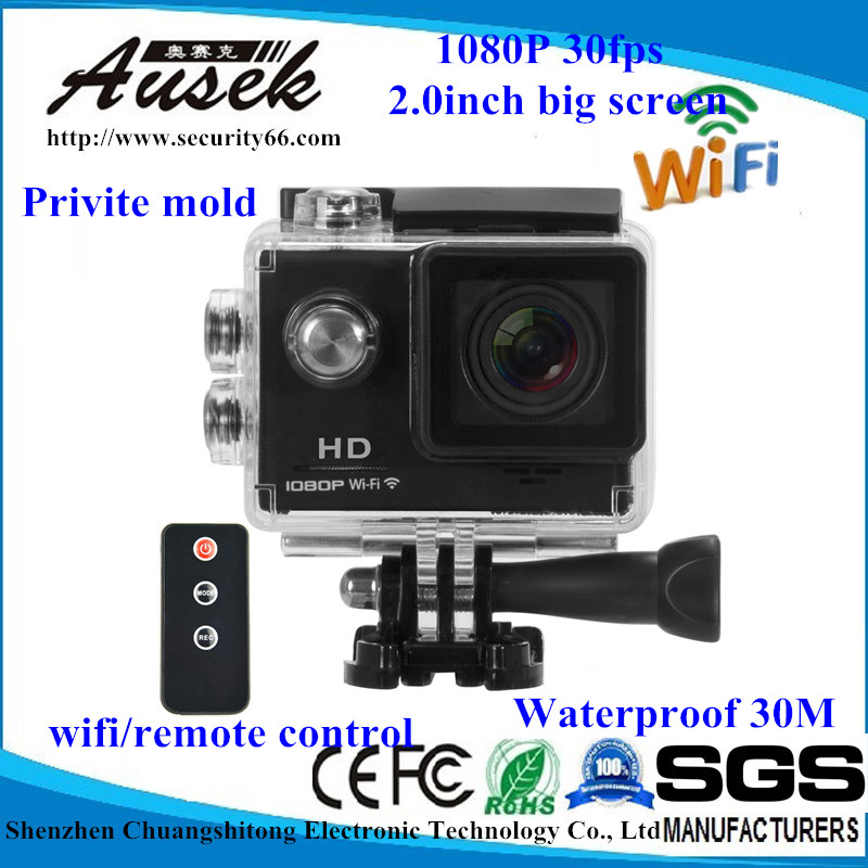 OEM High-Definition WiFi Sport Action Camera,Hd 1080p Wifi High Speed Waterproof Action Sports Cam