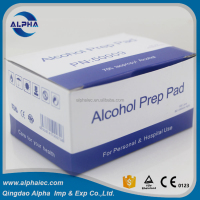 Spunlace nonwoven fabric alcohol swabs/pads with CE ISO approved