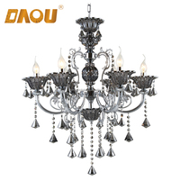 Hot selling light fixture of ceiling modern indian crystal chandelier with parts