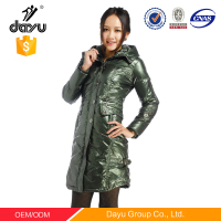 Lady garment green jacketkorea women winter coat green jacket women plus size varsity jackets for women