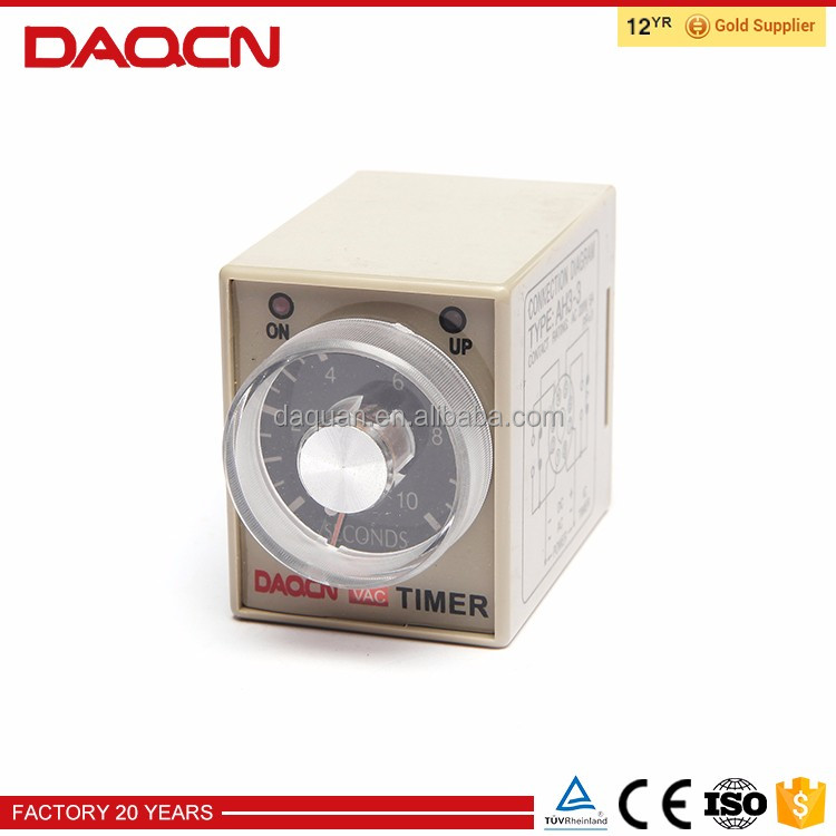 DAQCN ic timer time relay AH3 220VAC