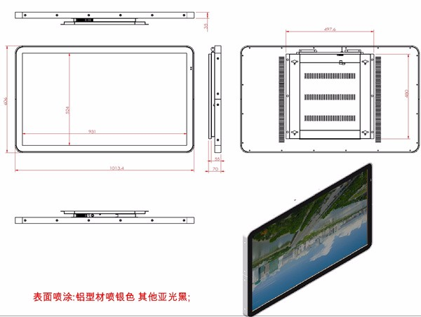 2016 led video screen vertical signage digital wall mounted advertising display