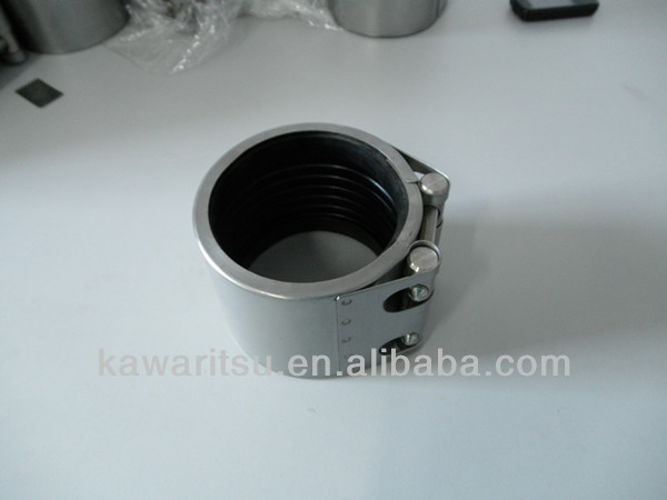 High Quality clamp on pipe fittings/stainless steel repair clamp with epdm rubber