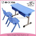 2 person size cheap plastic adjustable height cheap school desk and chair