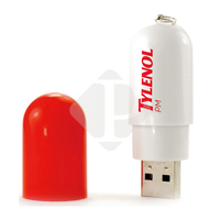 Wholesale USB Flash Memory Pill Shape Plastic USB Drive