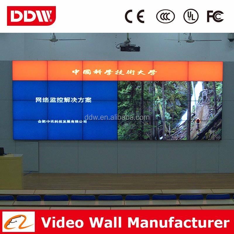 China factory 3.5mm bezel video wall website LG videowall DP DVI HDMI VGA AV input DDW-LW490DUN-THC1