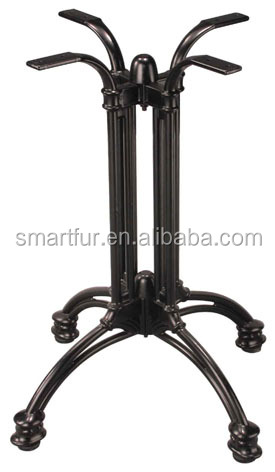 brushed nickel Wrought Iron Table Legs Bases