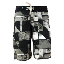 hot sale 100% polyster microfiber peached board shorts for man with water base print