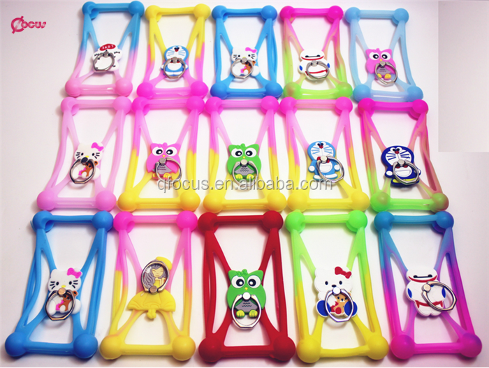 Newest 3D Cartoon Universal Rubber Soft Silicone Phone Bumper Case