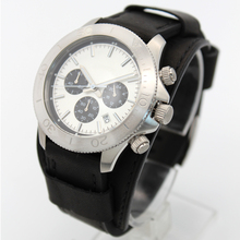 Large face mens watches chronograph classic New luxury watches BLACK