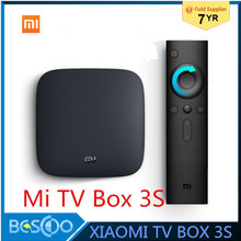 Xiaomi MI TV BOX 3S Smart 4K Ultra HD 2G 8G Android 6.0 WIFI Google Cast Netflix Red Bull Media Player Set-top