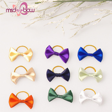 Custom animal pet dog hair bows with elastic rubber