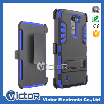 Wholesale holster belt clip phone case for LG K7 with kickstand