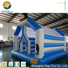 China hot attractive cute and mini animal bounce house snow style trampoline inflatable children bouncer for sale