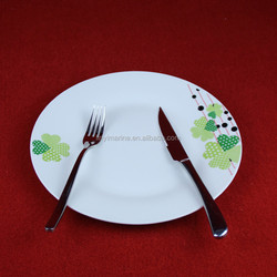 China factory provide Durable exquisite flower decal ceramic dinnerware