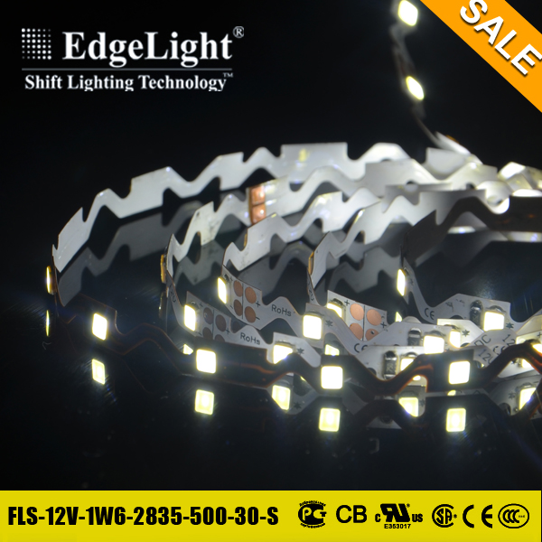 Edgelight Promotional Best quality warm white pure white high lumen flexible diffuse cuttable led strip light