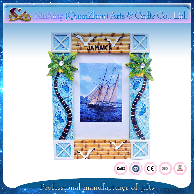 wholesale resin sky blue rectangle indoor decorative waterproof photo picture frame