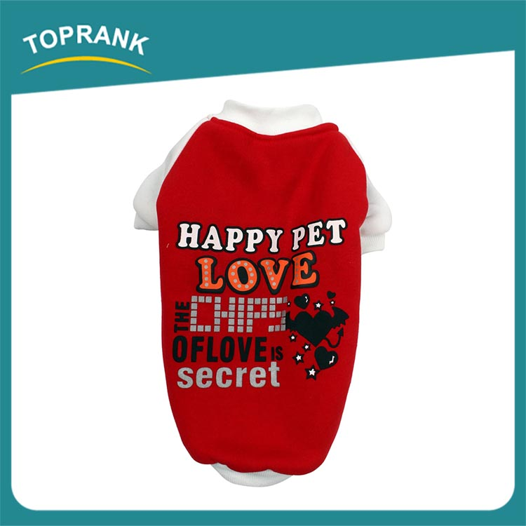 TOPRANK Supply Quality Wholesale Cute Cheap Fashion Pet Clothing For Dogs