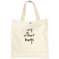 Fancy printed custom logo cotton tote bag shopping bags wholesale