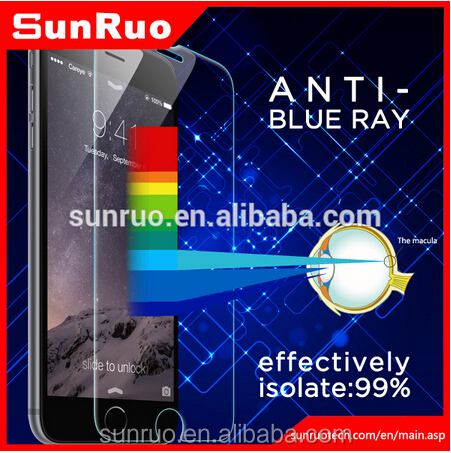 Japanese asahi glass blue light cut screen protector film for galaxy s6