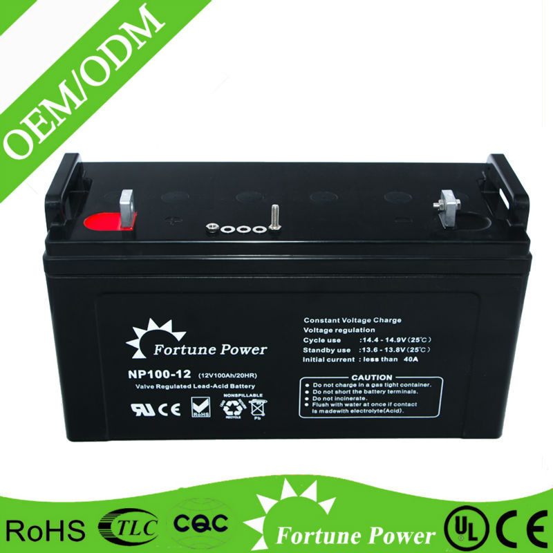 Railway engine/railway communication battery sealed lead acid battery 12V 100ah
