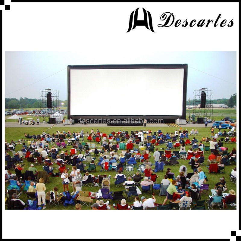 Indoor/outdoor inflatable cinema screen, commercial inflatable movie screen for sale