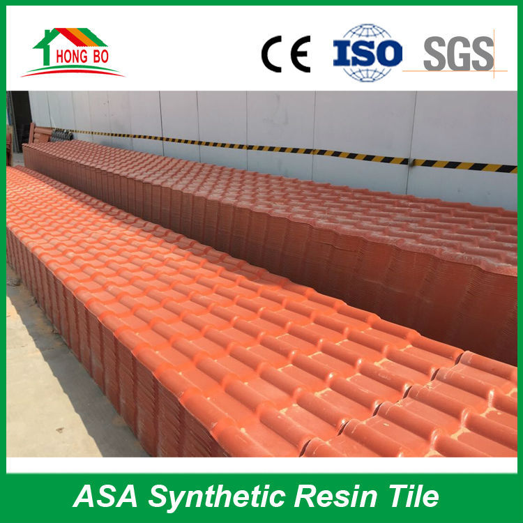 Branded Good Fire-resistant Rating traditional plastic chinese roofing tiles