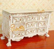 Dollhouse Miniature Furniture Victorian Style Cabinet w/ Dressers JB0033