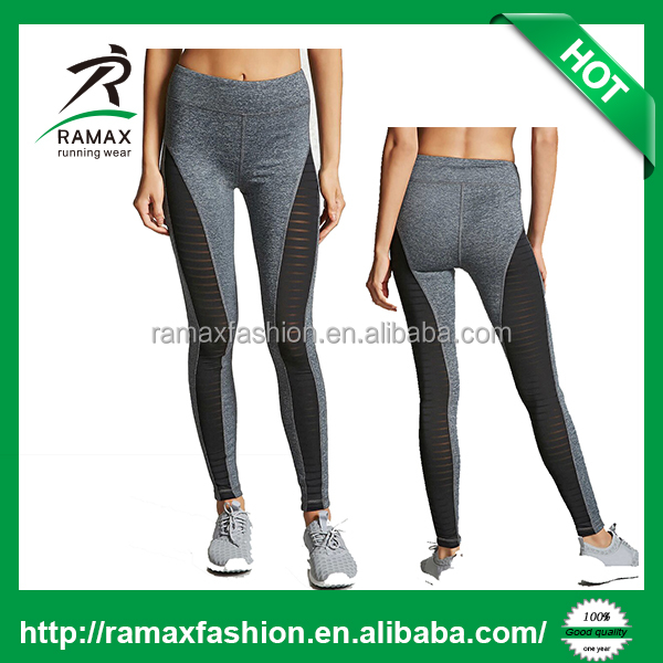 Ramax Custom Women Active Striped Mesh Yoga Workout Leggings