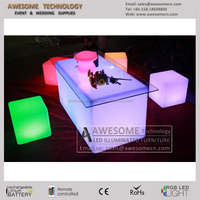 colorful led tv stand table