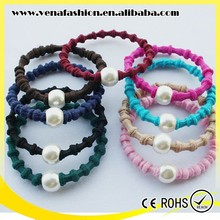 pearl knot design decorative girls hair bands for girls