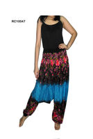 Wholesales Plus size Rayon Tie Dye Trouser Pantalon pants Hindu Ropa Vetement harem pants
