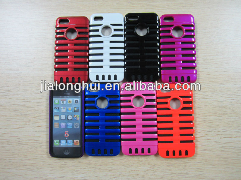 2013 New style microphone case for iphone5 TPU+PC